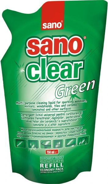 Detergent geamuri Sano Clear Green Refill 750 ml